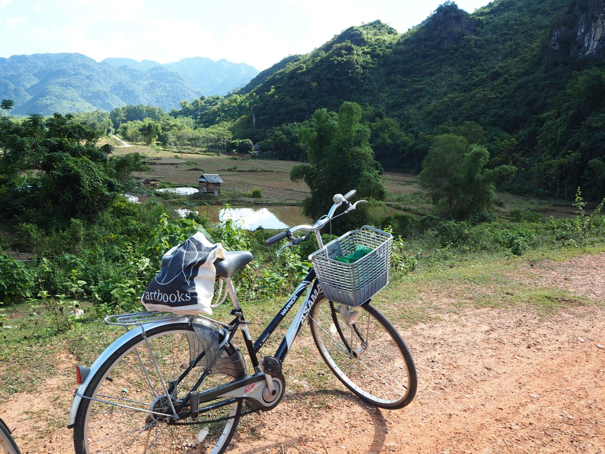 Through rice fields and valleys